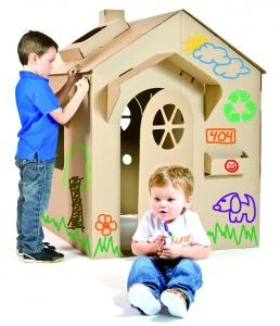 Activit avec enfant le bijou for Maison en carton a colorier