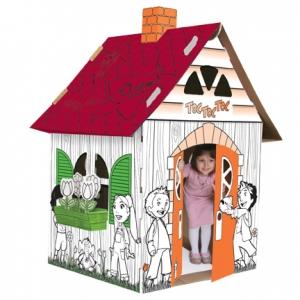 Maison de carton le bijou for Maison en carton a colorier
